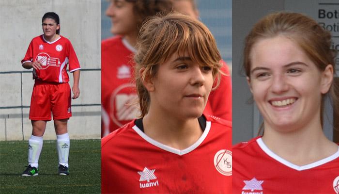 Tres jugadoras del Kirol Sport, en la Selección Navarra de Fútbol Femenino