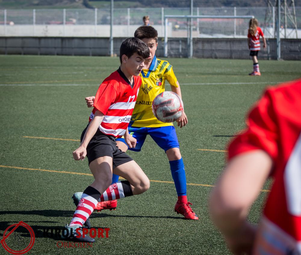 2ª Infantil: el Kirol Sport cae contra Amigó